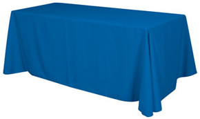 Blank Unprinted Tablecloth for 6 Foot Long Tables