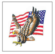 Eagle And Flag Tattoos