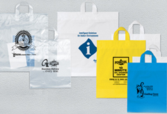 Plastic Bags With Loop Handle