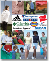Click here for a complete Garment Catalog - Adidas Champion Hanes Columbia Dickies American Apparel Jerzees Gildan Yupoong... We are your source for screen printing.